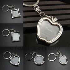 Silver Tone Mini Metal Alloy Insert Photo Picture Frame Keyring Keychain Key Fob