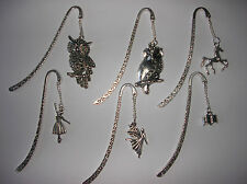 LOVELY TIBETAN SILVER BOOKMARK WITH CUTE HORSE/CAT  OWL ETC CHARM Y CHOOSE L@@K