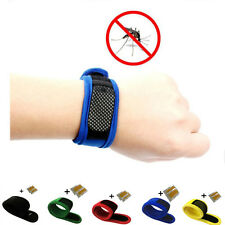 Anti Mosquito Bug Insect Repellent Bracelet Wrist Band & 2pcs Repellent Refills
