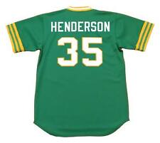 RICKEY HENDERSON Oakland Athletics 1980 Majestic Cooperstown Away Jersey