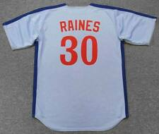 TIM RAINES Montreal Expos 1981 Majestic Cooperstown Away Baseball Jersey