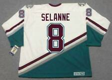 TEEMU SELANNE Anaheim Mighty Ducks 1997 CCM Throwback Home NHL Hockey Jersey