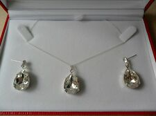 Crystal Drop Necklace and Earring Set made with Swarovski Elements