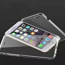 "Apple iPhone 6/6s 4.7"" Full 360 TPU Silicone Clear Case + Screen Protector Cover"