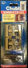 CHUBB 8K101M window Locks for Hinged Wooden Windows (4 locks with key) BRASS
