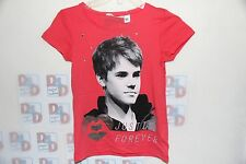 JUSTIN BIEBER SHIRT BY H&M RARE ITEM FROM 2012 , SIZE 8-10 or 10-12 GIRLS BNWT