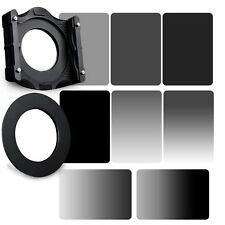 GND&ND2+ND4+ND8+ND16 Neutral Density Filter&67/72/77/82/86/95mm Ring+Holder Set