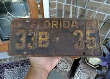 vintage FLORIDA AUTOMOBILE CAR single LICENSE PLATE TAG FLA FL ~1948~