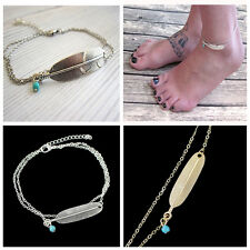 Silver Plated Chain Anklet Bracelet Barefoot Sandal Women Beach Foot Jewelry