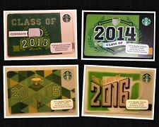 "STARBUCKS GIFT CARD *NEW NO VALUE* ""GRADUATION"" 2013 2014 2015 2016"