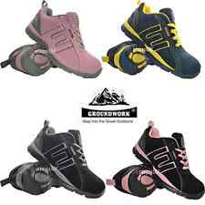 LADIES WOMENS GROUNDWORK LEATHER STEEL TOE CAP SAFETY WORK TRAINERS SHOES BOOTS