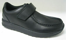 BOOTLEG BY CLARKS BOYS SCHOOL SHOES 'MISTRO GATE' BLACK LEATHER