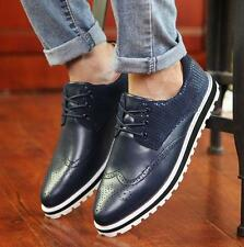 Mens brogue wing tip carving shoes skate board sneaker fashion oxford shoes