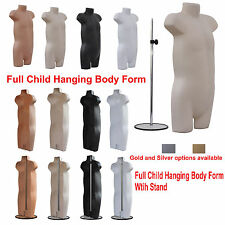 ❤ A1 Kids Child Hanging Body Form Plastic Mannequin Torso Bust Retail Display ❤