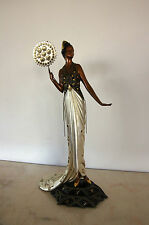 """Erte """"Fedora"""" Sold Out Limited Edition Bronze Rare Russian French Signed"""