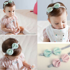 Cute Kids Girls Tinsel  Headbands  Elastic Lace Bowknot Hair Band Accessories