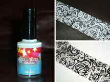 UK GIFT SET 1 NAIL ART TRANSFER FOIL ADHESIVE STAR GLUE MANICURE STICKERS WRAPS
