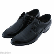 Casual Pointed Toe Lace Up Patent Leather Shoes for Male