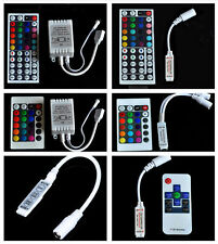 Mini 3/24/44 Key RF Remote Wireless Controller For 3528 5050 SMD RGB LED Strips