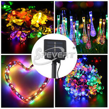 Solar/Battery Power LED Fairy Light String Lamp Xmas Party Garden Outdoor Decor