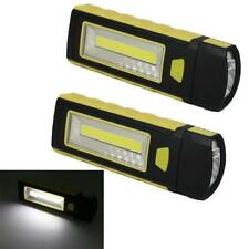 2pcs LED COB Camping Work Inspection Light Lamp Hand Torch Magnetic CA