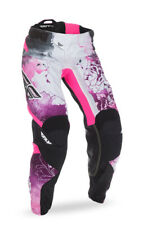 Fly Racing Pink/Purple/White Womens & Youth Kinetic Race Dirt Bike Pants MX ATV