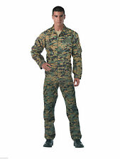 FLIGHTSUIT WOODLAND DIGITAL CAMO USAF STYLE COVERALL ROTHCO  JUMPSUIT SIZE S-3X