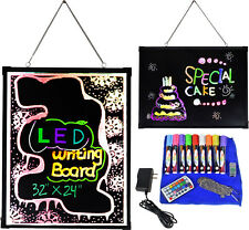 Flashing Illuminated Neon LED Writing Board Message Menu Sign Display Erasable