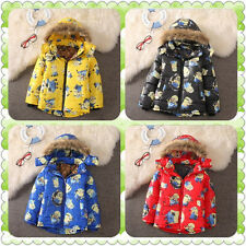 Kids Boys Girls Hoodies Minions Me Zipper Coat winter Cartoon Clothes Despicable