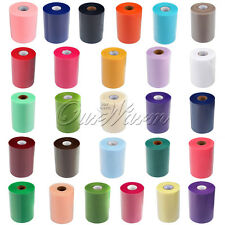 """Tulle Roll Spool 6""""x100Y for Wedding Craft Tutu Skirt Tulle DIY Fabric Chair Bow"""