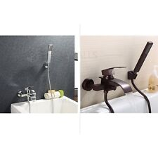 Bath Filler Tub Waterfall Faucet Set With Handheld Shower Wall Mounted Brand New