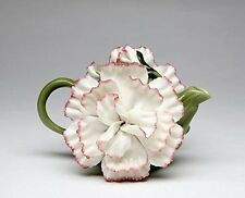 17cm Ceramic Handcrafted Carnation Teapot Collectible Figurine. Best Price