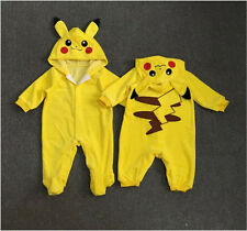 Pokemon Go Newborn Baby Boy Girl Pikachu Outfit Jumpsuit Rompers Playsuit 0-24 M