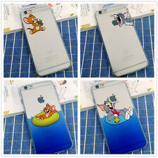Classic Funny Lovely Cartoon TOM AND JERRY Silicone Case For iphone 6/7 Plus 5s
