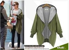 Women Autumn Winter Oversized Zip Hoodies Cardigan Parka Top Jacket Coat Outwear