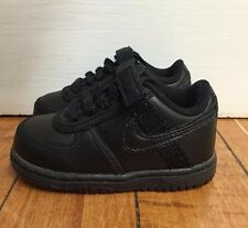 NIKE VANDAL LOW BLACK LEATHER BABY TODDLER SHOES TD SZ 4-10 C   314677-001 A