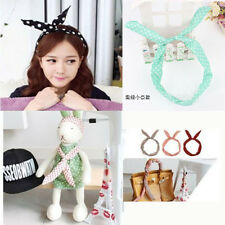Stylish Girl Lady Bunny Ears Rabbit Bow Tie Wired Headband Hair Band Wrap Scarf