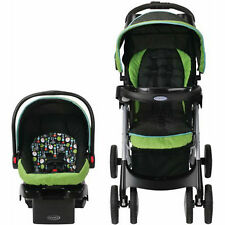 Graco Travel System Stroller Car Seat For Boys Girls Infant Click Connect Fold