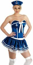 CHEEKY SAILOR GIRL FANCY DRESS SIZES S M  HALLOWEEN COSTUME PARTY