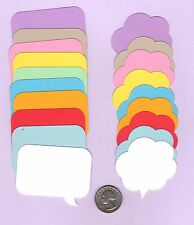"""Speech Bubble Die Cuts - Conversation Bubble Die Cuts - 2"""" tall, Any color(s)"""