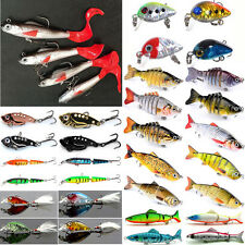 Lot Fishing Lures Bass Spoon Crankbait Jointed Swimbait Hooks Tackle Crank Baits