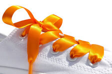 Bright Coloured Ribbon Shoelaces With Logo Tips for Kids Adults Crystal Trainers