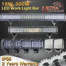 "18w-180w/4""inch-28""inch Led Work Light Bar Spot/Flood Beam Offroad 4WD ATV UTE"