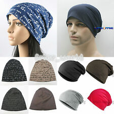 Unisex Mens Womens Hip-Hop Warm Winter Baggy Cotton Knitted Ski Beanie Cap Hats