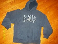 GAP ATHLETIC LOGO MENS  DARK BLUE SMALL PULLOVER DRAWSTRING HOODIE EUC!