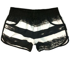 ROXY Womens Black White Stripe Bermudas Shorts Surf Pants Board Shorts S M L XL