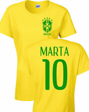 Marta Vieira da Silva Brazilian Women's Soccer Team 2 Sides LADIES T-Shirt 1184