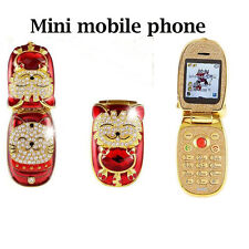 Unlocked Hello kitty Cell Phone Dual SIM Quad Flip GSM Phone For Kids Students