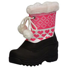 Itasca SNOW KICKER TASSEL Toddler Youth Girls Pink Warm Lined Winter Snow Boots