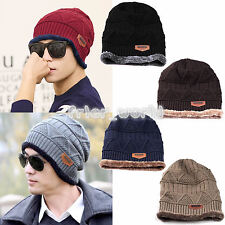 Trendy Men Knitted Slouchy Beanie Cap Chic Baggy Winter Warm Hat Oversize Unisex